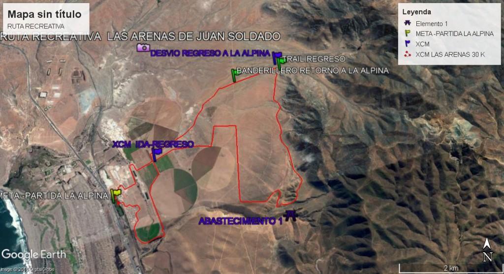 RUTA RECREATIVA xcm y trail LA ARENAS